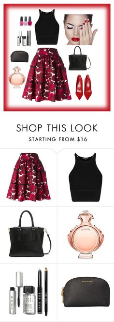 """""""Untitled #322"""" by suad-nisveta-mesic ❤ liked on Polyvore featuring beauty, Marc Jacobs, Manolo Blahnik, Paco Rabanne, Bobbi Brown Cosmetics, Michael Kors and OPI"""