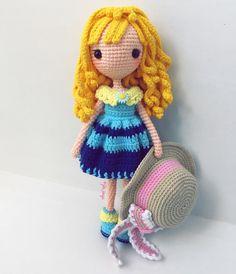#amigurumi #cute #crochet #handmade #girl #gift #jibsoya Crochet Dolls, Crochet Hats, Chrochet, Yorkie, Tweety, Cute, Gifts, Handmade, Inspiration