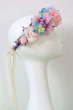 Diadeems - Flower head wreath / Floral crown / Headpiece - Een uniek product van LolaWhite op DaWanda