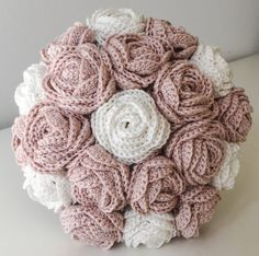 Fabric Flower Bouquet Artificial Flower by KnottyFlorist on Etsy Fabric Flower Bouquet Artificial Flower by KnottyFlorist on Etsy The post Fabric Flower Bouquet Artificial Flower by KnottyFlorist on Etsy appeared first on Easy flowers. Crochet Bouquet, Crochet Puff Flower, Crochet Flower Patterns, Crochet Flowers, Ribbon Bouquet, Red Rose Bouquet, Flower Bouquet Wedding, Artificial Flower Arrangements, Artificial Flowers