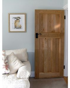 Our Solid Oak Style Internal Doors help give your home that truly traditional look! (%) buy today from the UK's leading reputable 1930 oak door supplier! 1930s House Interior, Interior, Interior Barn Doors, 1930s Home Decor, Solid Oak Doors, Doors Interior, House Interior, Oak Doors, Wood Doors Interior