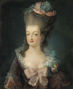 1775 first specimen of portrait copy by ? This is one of the various copies inspired by the 1775 d'Agoty portrait of Marie Antoinette. Posted to Le Boudoir de Marie-Antoinette forum Portrait officiel de 1775 thread by la nuit, la neige on 1 May Marie Antoinette, Jean Antoine Watteau, Luis Xiv, French Royalty, Maria Theresa, French History, European History, Beauty Cream, Portraits