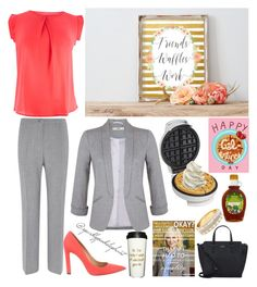 """Leslie Knope Outfit: Parks and Rec"" by sparklypinkelephant ❤ liked on Polyvore featuring Hamilton Beach, Viyella, Miss Selfridge, Bally, Kate Spade and parksandrec"