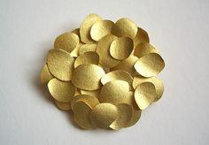 Petal brooch by Kayo Saito.  18ct gold