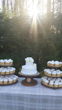 Tree Cupcake Stand Log Cupcake Stand Rustic Cake S Rustic Cupcake Stands, Rustic Cupcakes, Cake And Cupcake Stand, Wedding Cakes With Cupcakes, Rustic Cake, Cupcake Towers, Wood Wedding Cakes, Wedding Cake Prices, Wedding Cake Designs