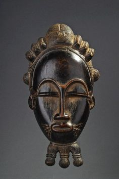 Africa | Mask from the Baule people of the Ivory Coast | Wood | Image ©Michel Renaudeau