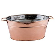 Old Dutch Decor Hammered Copper Oval Beverage Tub - 1123, Durable