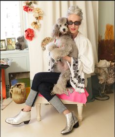 #Poodle #grey #fashion #stylist #linda #rodin