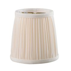 "4"" Shirred Silk Chandelier Shade eggshell Chandelier Lamp Shades, Mini Chandelier, Modern Chandelier, White Satin, Light Shades, Silk, Eggshell, Candle, Top"