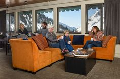 Alta Lodge Deck Room where afternoon tea is served during ski season.
