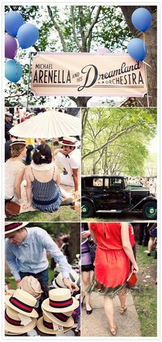 Jazz Age themed wedding reception = AMAZEBALLS. The key is hiring a big band or jazz orchestra to pull the whole look together. #vintage15
