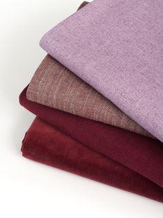 Robert Allen Solids & Textures upholstery fabric collection - Crimson & Clover dark red color palette.
