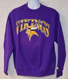 Vintage 80s 90s  Minnesota Vikings Starter Sweatshirt Mens L NFL Football  Purple  Starter  MinnesotaVikings 73ed8c5fe