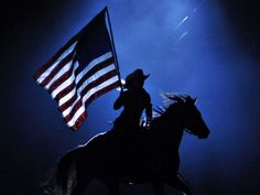 I love that every rodeo starts with the National Anthem and a prayer!