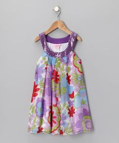 b5552cdd Purple & Red Yoke Dress - Girls by Lipstik Girls #zulily #zulilyfinds  Cute