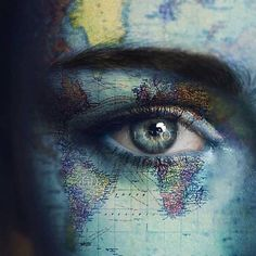 Image about beautiful in 💙 eyes 👀 💙 by Odalys Daiz Photoshop, Wow Photo, 5 April, Eye Photography, Creative Photography, Eye Art, Pretty Eyes, Color Splash, Art Reference