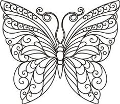 13 Paper Quilling Design Ideas That Will Stun Your Friends – Quilling Techniques Quilling Butterfly, Butterfly Outline, Arte Quilling, Paper Quilling Patterns, Butterfly Template, Butterfly Stencil, Butterfly Mandala, Crown Template, Butterfly Mobile