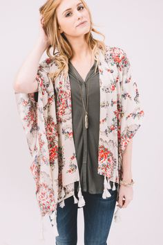 New Prospects Black Patterned Kimono – Lee & Birch