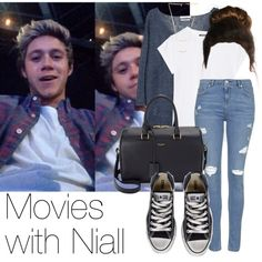 REQUESTED: Movies with Niall by style-with-one-direction on Polyvore featuring moda, Balmain, MANGO, Topshop, Converse, Yves Saint Laurent, Gorjana, OneDirection, 1d and NiallHoran