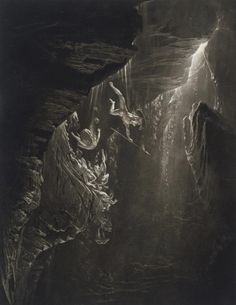 "scribe4haxan: "" Paradise Lost: The Fall of the Rebel Angels (1824 - Mezzotint)…"