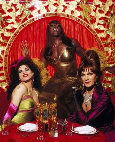 John Leguizamo, Wesley Snipes, and the late Patrick Swayze in To Wong Foo,Thanks for everything, Julie Newmar Lisa Niemi, Julie Newmar, 90s Movies, Great Movies, Awesome Movies, Drag Queens, Love Movie, Movie Tv, Movie Reels