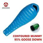 AEGISMAX White Goose Down Mummy Camping Sleeping Bag Cold Winter Ultralight Baffle Design Camping Splicing Lengthened Cheap Sleeping Bags, Best Sleeping Bag, Mummy Sleeping Bag, Down Sleeping Bag, Ultralight Sleeping Bag, Kalter Winter, Duvet, Cold Weather Fashion, G 1