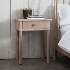 Clearance - Hudson Living Wycombe 1 Drawer Bedside Table - Oak - New - - CFS Furniture UK
