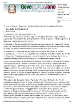 La Svolta Buona: le decisioni del Consiglio dei Ministri by Alberto Cardino - AGEVOFACILE via slideshare
