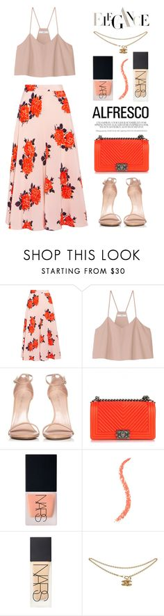 """""""Alfresco"""" by miee0105 ❤ liked on Polyvore featuring Ganni, TIBI, Stuart Weitzman, Chanel and NARS Cosmetics"""