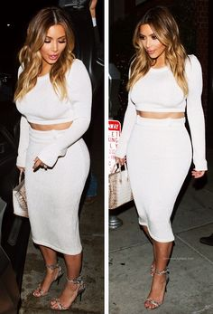 Kim kardashian all white outfit