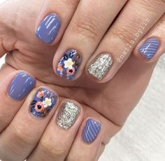 Looking for cute nail ideas for Spring? Makeup Tutorials has got you covered with these 25 creative designs to take with you to the nail salon. Get Nails, Fancy Nails, Pretty Nails, Hair And Nails, Boxing Day, Manicure Y Pedicure, Manicure Ideas, Pedicures, Fabulous Nails