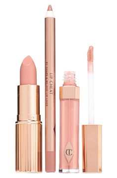 Achieve the perfect nude kiss with this curated set by Charlotte Tilbury.