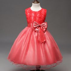 9aa341f2e4b Flower Girl dress lace up butterfly A-line ankle length girl kids dresses  princess for wedding party