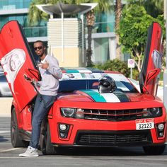 Vehicles decorated for UAE 43rd National Day PHOTO: nasalsebaa