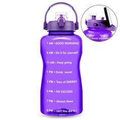 Motivational Solid Color Water Bottle - 3.8L / Light Purple