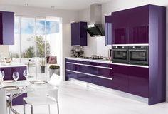 moveis lilás para cozinha - Pesquisa Google
