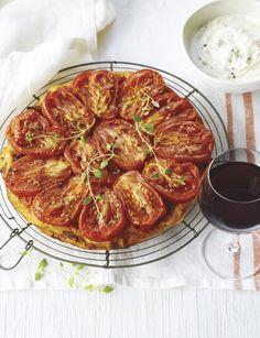 #Recette de #tarte tatin aux #tomates. Sublime en guise d'entrée ou au repas.
