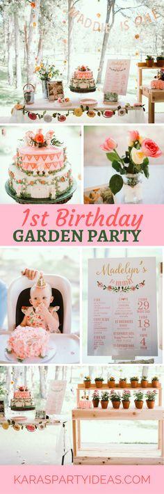1st Birthday Garden Party via Kara's Party Ideas