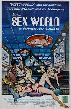 Muitos, mas muitos cartazes de pornografia vintage. Bem, não vamos enrolar…