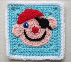 Ravelry: Funny Face Square by Carola Wijma