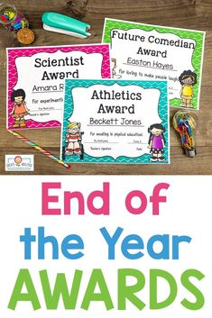 EDITABLE End of Year Awards - This set includes 202 pages of award certificates, teacher nomination forms, student nomination forms, note home to parents, and diplomas. I have also added blank award templates for you to add in your own award titles. Great for preschool, Kindergarten, 1st, 2nd, 3rd, 4th, and 5th grade. Click through to see each award now! (Color and b&w options available) #EndOfYearAwards #EndOfYear #4thGrade #5thGrade 5th Grade Classroom, Classroom Ideas, Award Template, Award Certificates, End Of Year, Preschool Kindergarten, 5th Grades, Homeschool, Parents