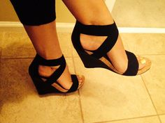 BCBG black shoes / wedges, love! Summer feet :-) 2014 spring / summer collection