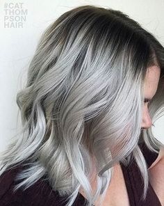 21 Pinterest Looks That Will Convince You to Dye Your Hair Grey | Rooted Silver
