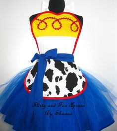 Toy Story Jessie Inspired Costume Tutu Apron by FlirtyandFunAprons
