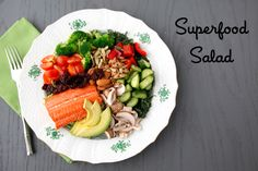 Eat this Superfood Salad that is full of cancer-fighting foods that work with your body to keep it healthy and strong!