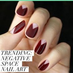 BLANK SPACE || Check out the latest #nailart trend that uses your nail's blank canvas #trending Link in profile.