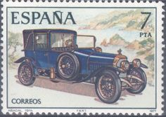 Sello postal - ESPAÑA 1977 Automóviles antiguos españoles. Scott 2040