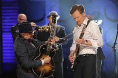 Few things in life can get better than this. Conan playing the guitar with Jimmy Vivino. Two very class act guys.