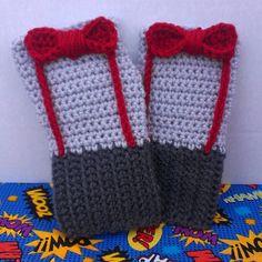 doctor who crochet | Doctor Who Fingerless Gloves - Thumbnail 1