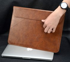 New PU Leather laptop bag, Notebook Case bag For Apple macbook Air Pro Retina 11 13 inch Computer Sleeve Protector For Mac book